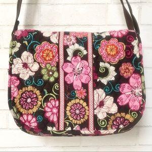 Vera Bradley Floral Messenger Bag Laptop Diaper